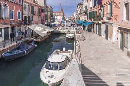 VENICE, ITALY-APRIL 20, 2017: The widest Garibaldi street in Venice is located in the Castello district Banque d'images - 137507600