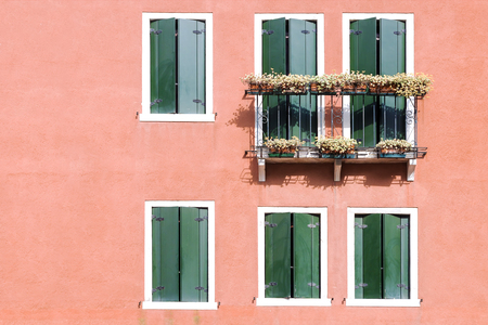facade of a house with a balcony in Venice