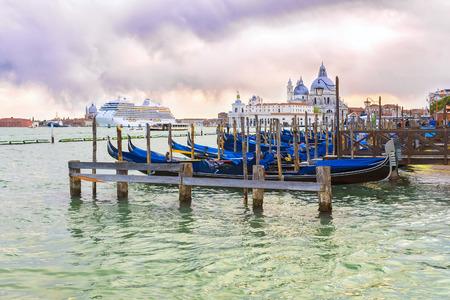 Italy, Venice. Venetian lagoon at sunset in Venice
