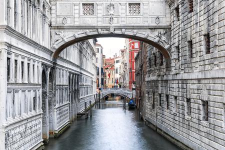 Venice . Italy. Bridge of Sighs in Venice 스톡 콘텐츠
