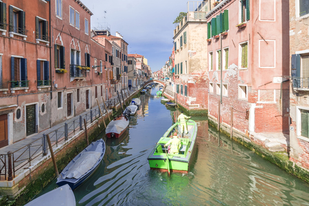 Venice, Italy. Residential neighborhoods in Venice 스톡 콘텐츠