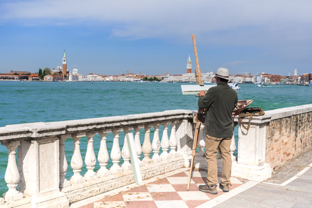 Venice, Italy. Panoramic view of the city of Venice 스톡 콘텐츠