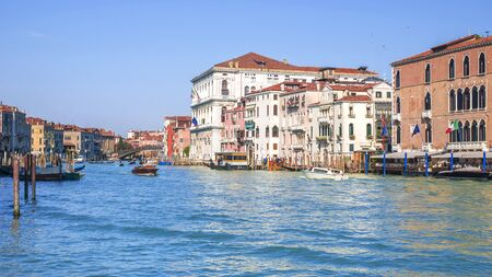 Italy, Venice. View of the Grand Canal in Venice