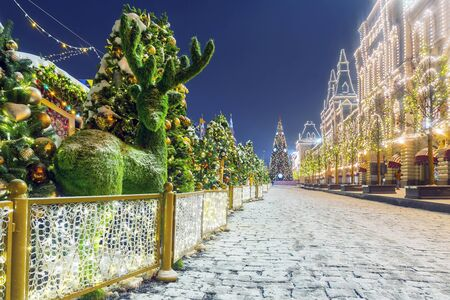 Christmas in Moscow. Red Square Christmas decoration in Moscow Banque d'images - 137548057