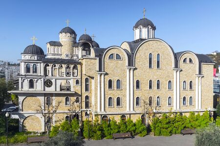 Temple of the Miraculous Image of Christ the Savior. Sochi. Adler Banque d'images - 137548037