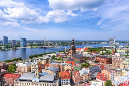 View of old Riga, Latvia Banque d'images - 137798640