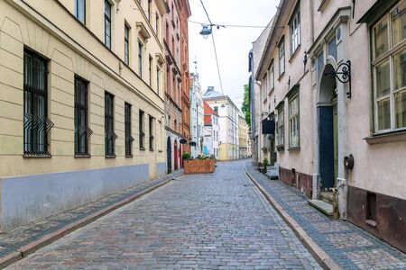 Old streets of Riga. Latvia Banque d'images - 137798666