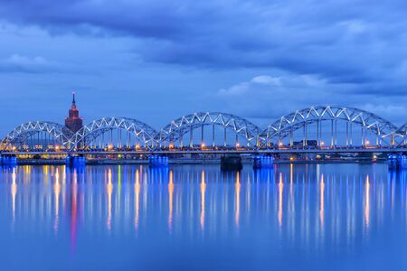 Railway bridge in the barn. Riga, Latvia. Banque d'images - 137799161