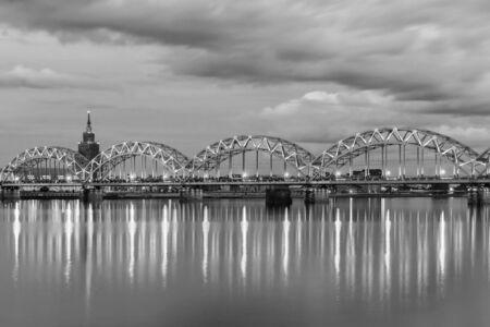 Railway bridge in the barn. Riga, Latvia. Banque d'images - 137798642