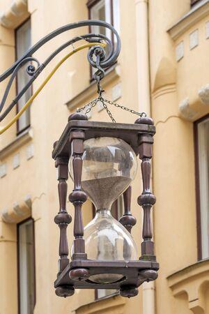 Riga, Latvia. old hourglass on Riga street