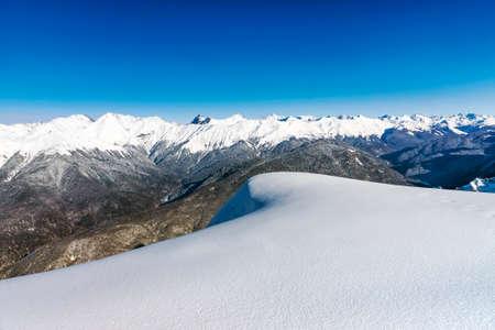 beautiful natural landscape of snowy mountains 版權商用圖片