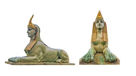 Sphinx on the Egyptian bridge in St. Petersburg. insulated sphinx bridge element.Date of construction 1867