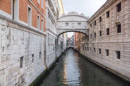 Venice, Italy. Bridge of Sighs in Venice