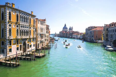 Venice, Italy. View of the Grand Canal in Venice 新聞圖片