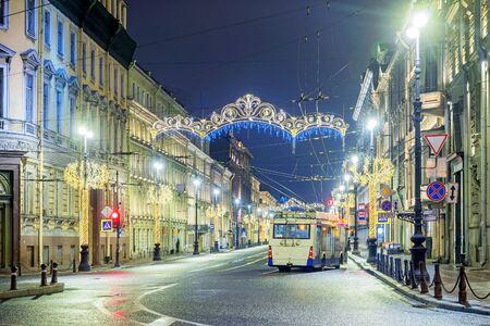 trolleybus in St. Petersburg, Russia