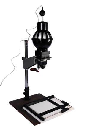 enlarger: Enlarger (photo projector) isolated on a white background