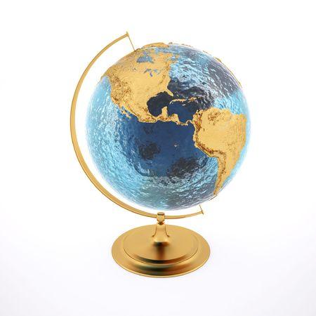 Golden Globe. isolated on white photo