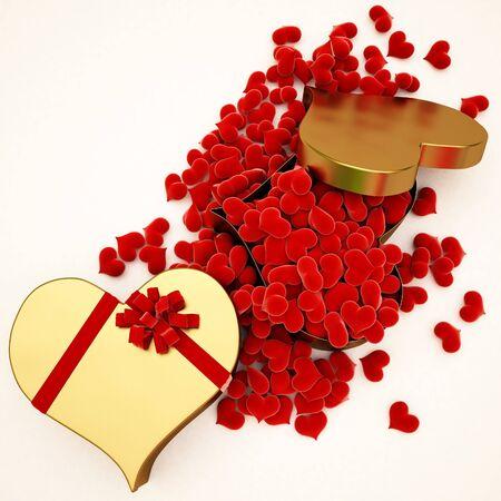 Regalo en forma de un corazón de oro Foto de archivo - 6666746