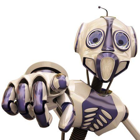 dedo indice: Robot le muestra el dedo �ndice.