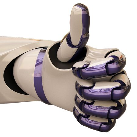 robot hand gesture meaning &quot,okay&quot,. Stock Photo - 6681963