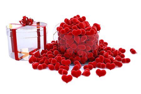 heart of velvet in a glass gift.  photo