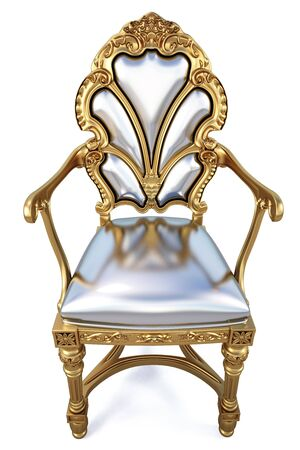 beautiful golden chair. isolated on white. Stock Photo - 6909902