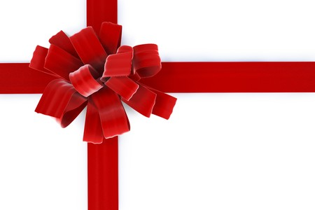 gift giving: beautiful bow with a ribbon. isolated on white