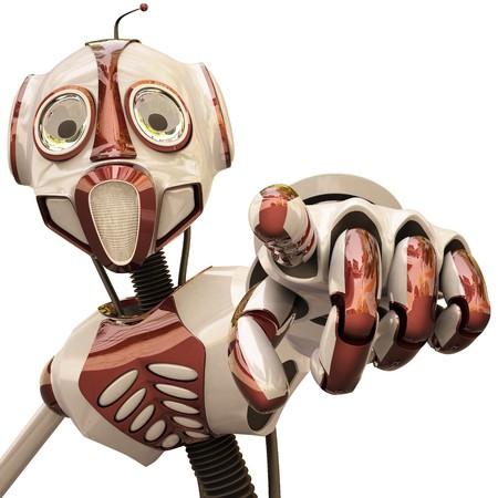 dedo                �ndice: Robot le muestra el dedo �ndice.