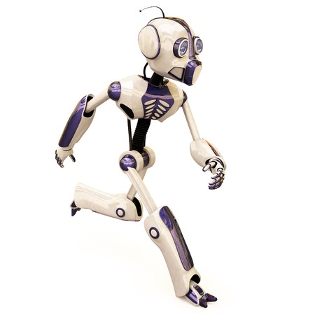 running robot. isolated on white. Stock Photo - 7697883