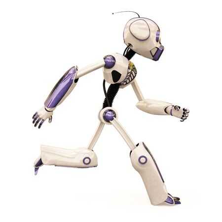 running robot. isolated on white. Stock Photo - 7697882