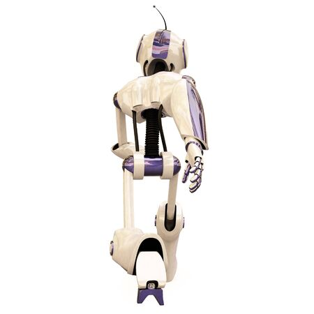 running robot. isolated on white. Stock Photo - 7697881