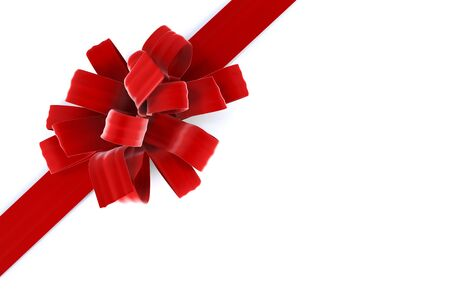 beautiful bow with a ribbon. isolated on white photo