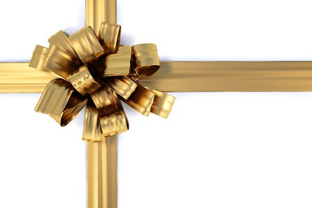 beautiful bow with a ribbon. isolated on white Stock Photo - 7704927