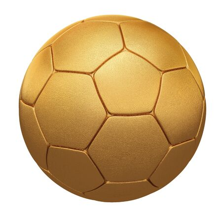 soccer ball made of gold and silver. isolated on white. Stock Photo - 7808561