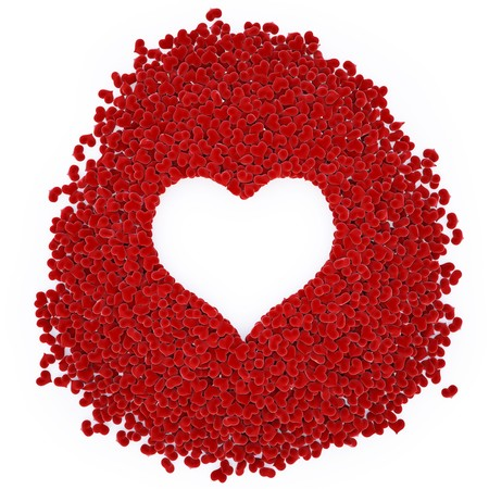 velvet hearts in a large heart. Stock Photo - 7969111