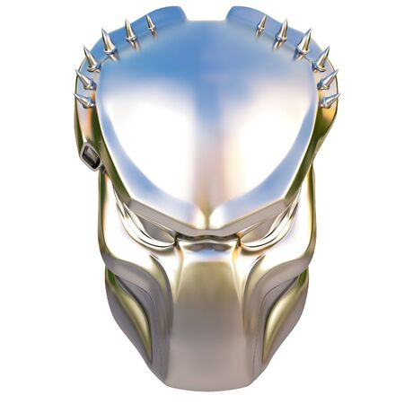 silver mask predator. isolated on white.