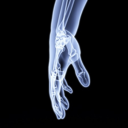 human hand under X-rays. 3d image. Stock Photo - 8057718