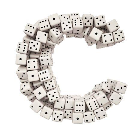 Une lettre de la pile de dés alphabet.