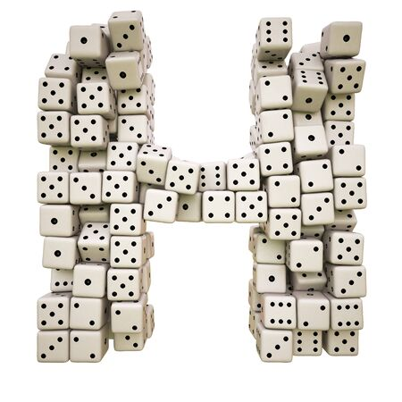 One letter of pile of dice alphabet. Stock Photo - 8234383