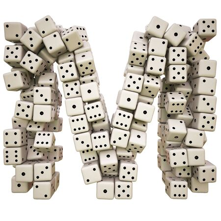 One letter of pile of dice alphabet. Stock Photo - 8234398