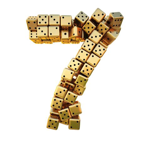 numbers icon: figures from the golden dice. isolated on white.