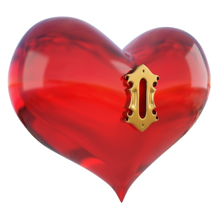 red heart with a keyhole. Stock Photo - 8657035