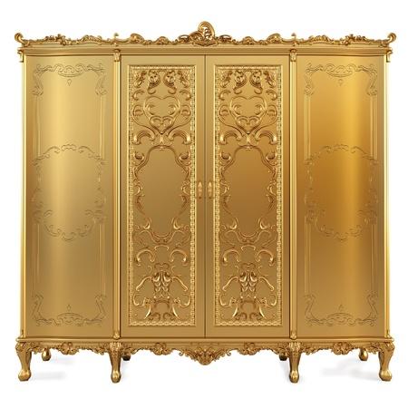 golden classic locker. isolated on white.  photo