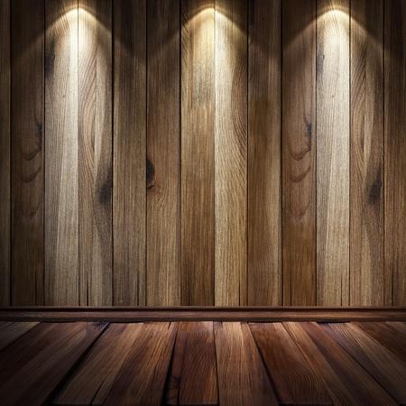 wooden pattern: Vintage Brown parete di legno con illuminazione spot.