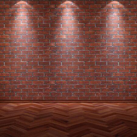 grunge interior: antiguo interior grunge con pared y el piso de madera.