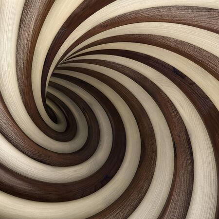 twirls: abstract wood twisted tunnel
