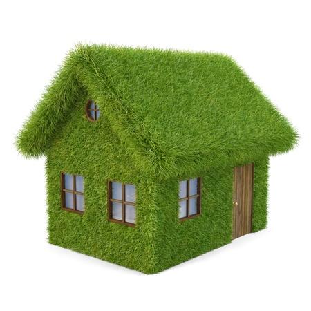 Casa de la hierba. aislado en blanco. Foto de archivo