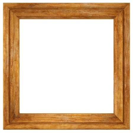 antique frame: wooden picture frame isolated on white.