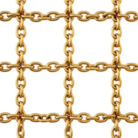 protection of golden chain. isolated on white. photo