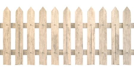 a wooden fence isolated on white including clipping path photo